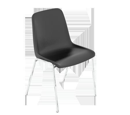 actuel d cors chaise welkom noir satin. Black Bedroom Furniture Sets. Home Design Ideas